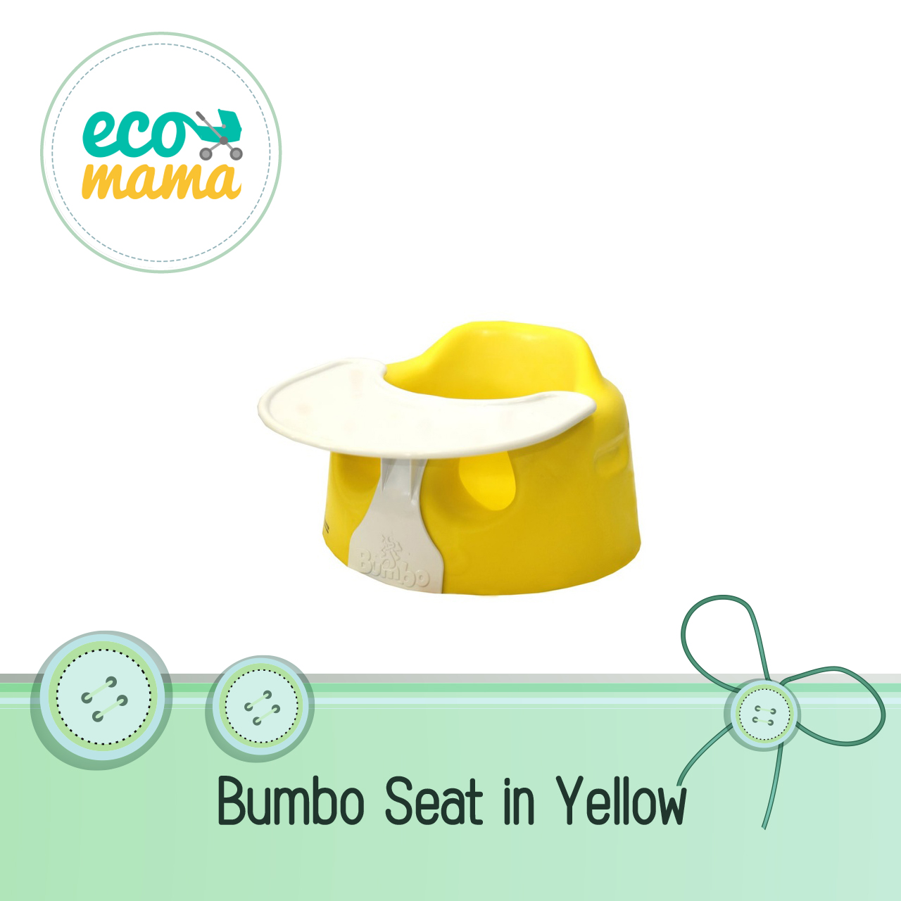 Bumbo Baby Seat with Play Tray Yellow