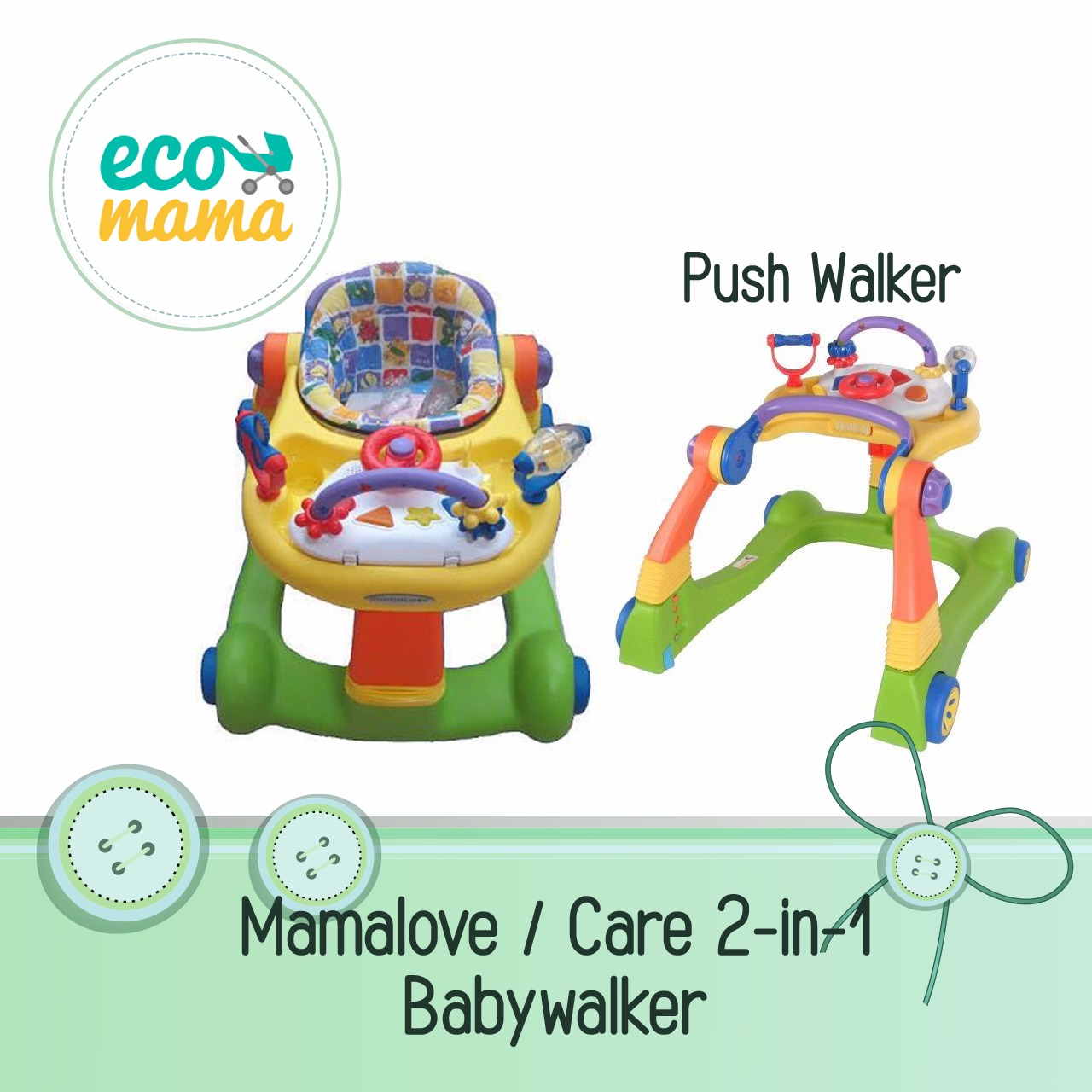Baby Walker Mamalove 2 in 1