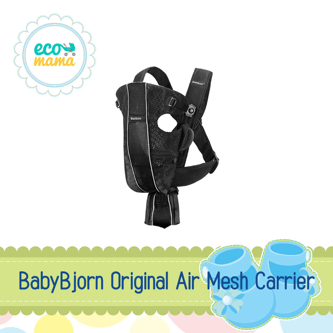 Baby Bjorn Original Air Mesh Black