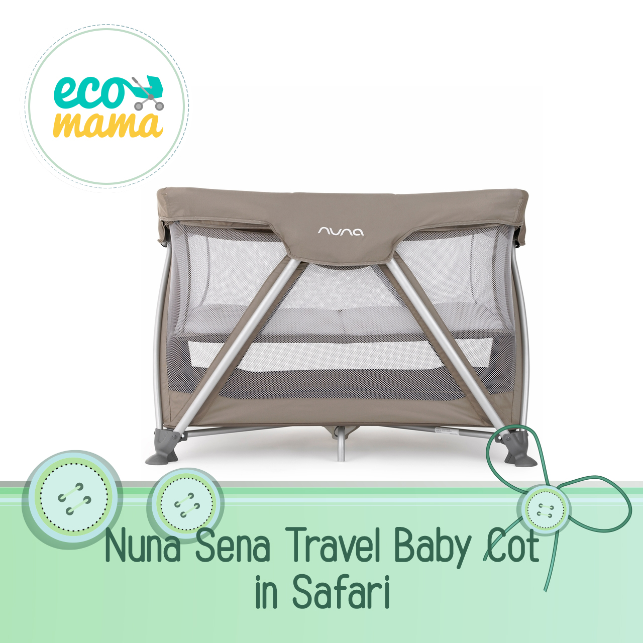 Nuna Sena Travel Crib in Safari