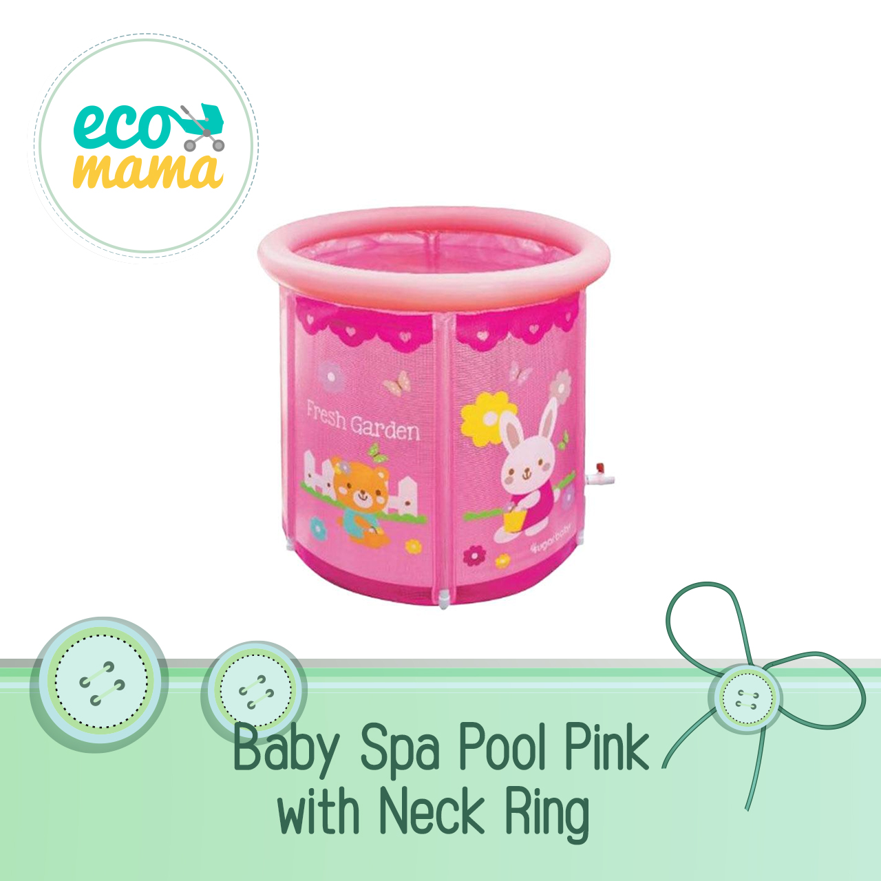 Baby Spa with Neck Ring - Pink