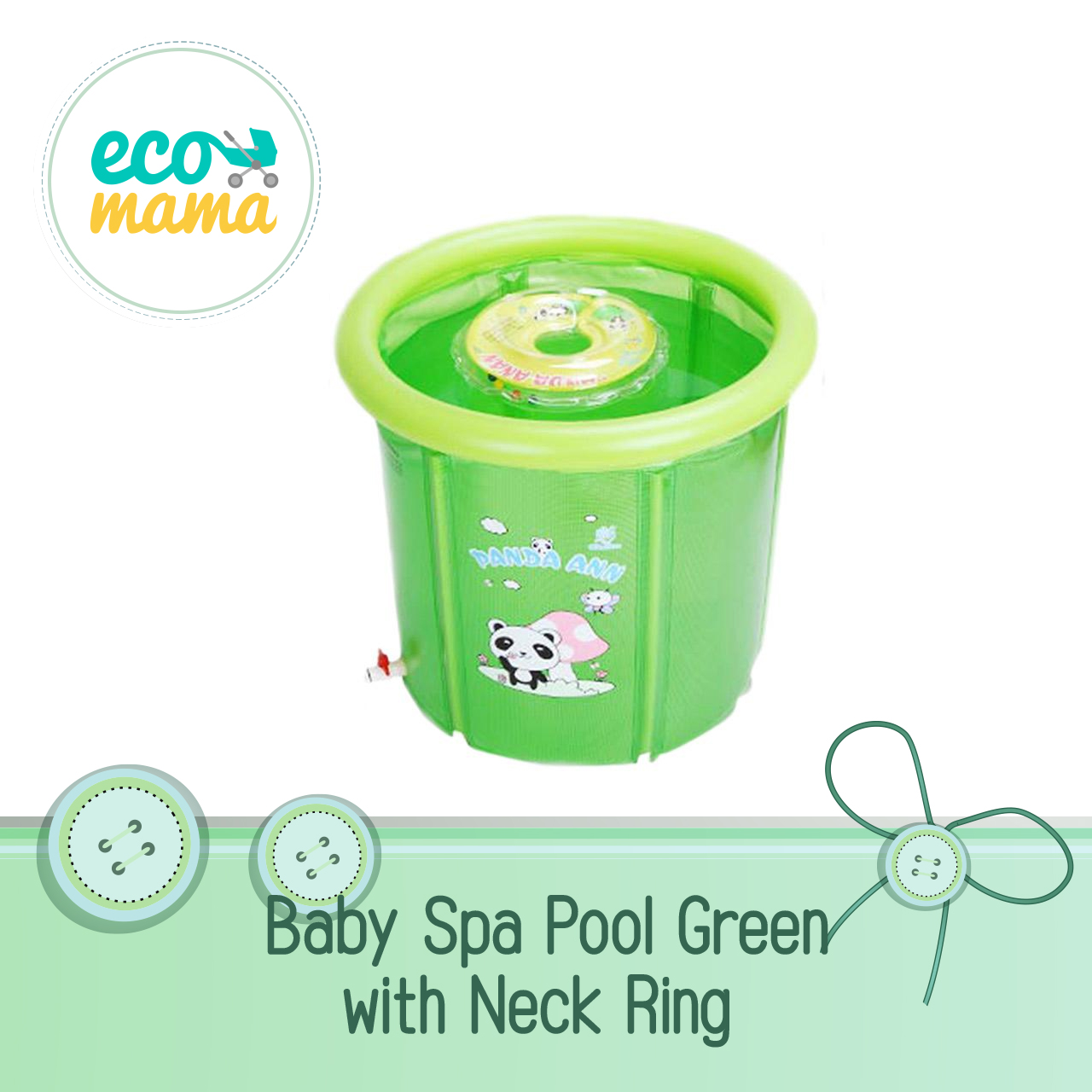 Baby Spa with Neck Ring - Green