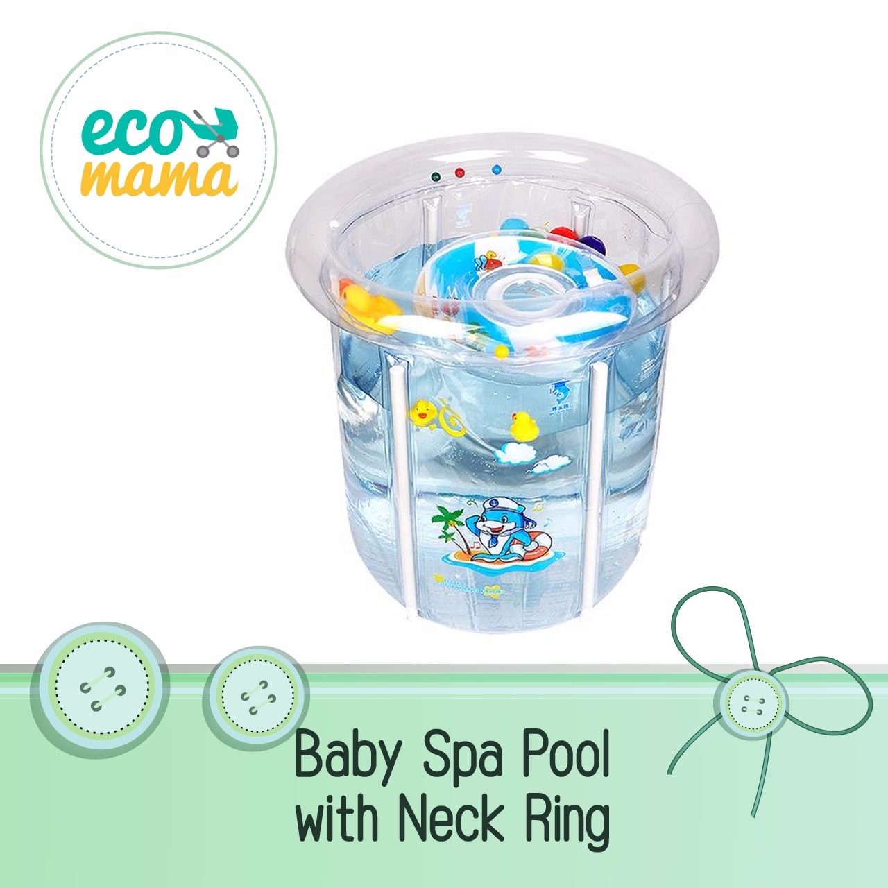Baby Spa with Neck Ring - Transparent
