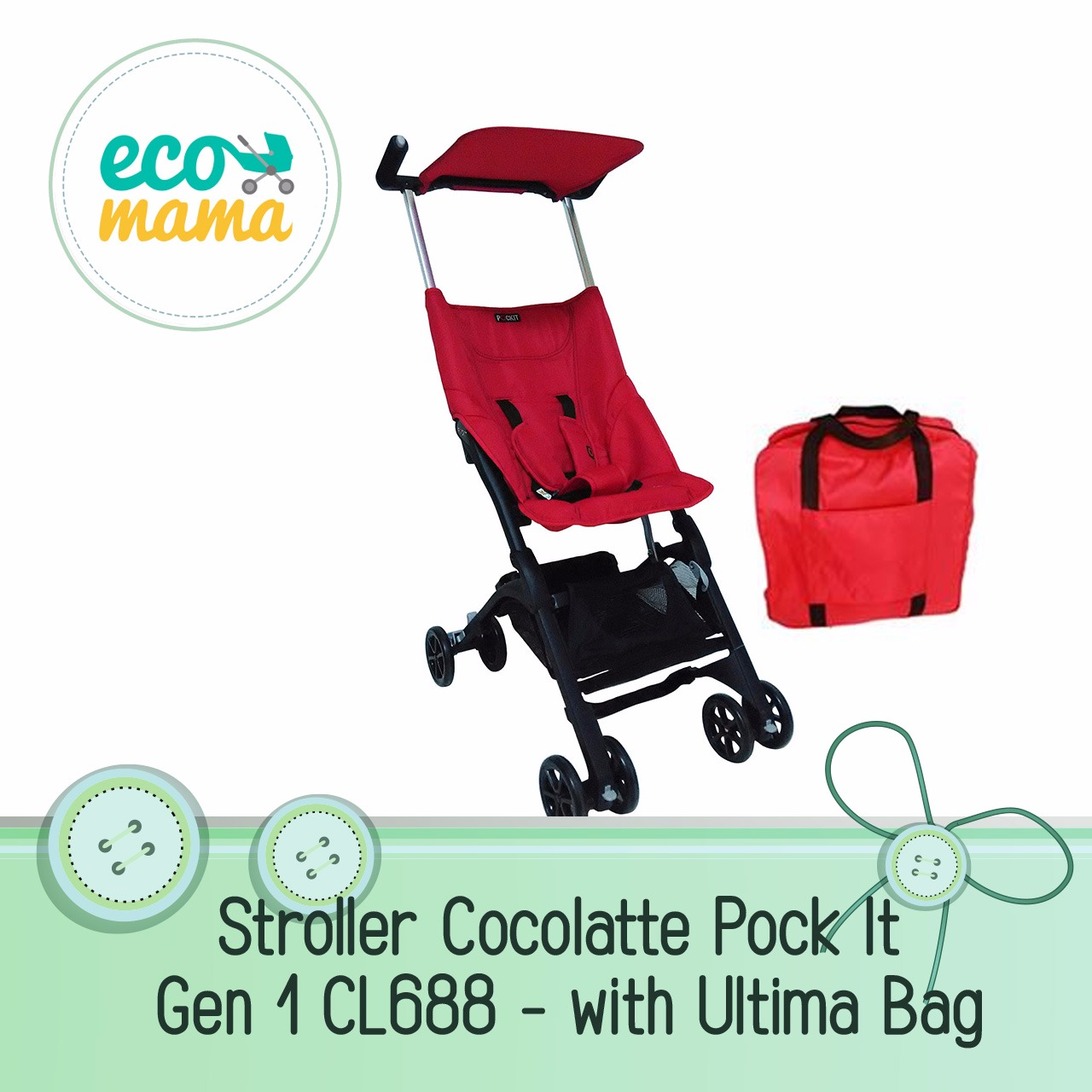 Cocolatte Pockit CL688 Gen 1 Red
