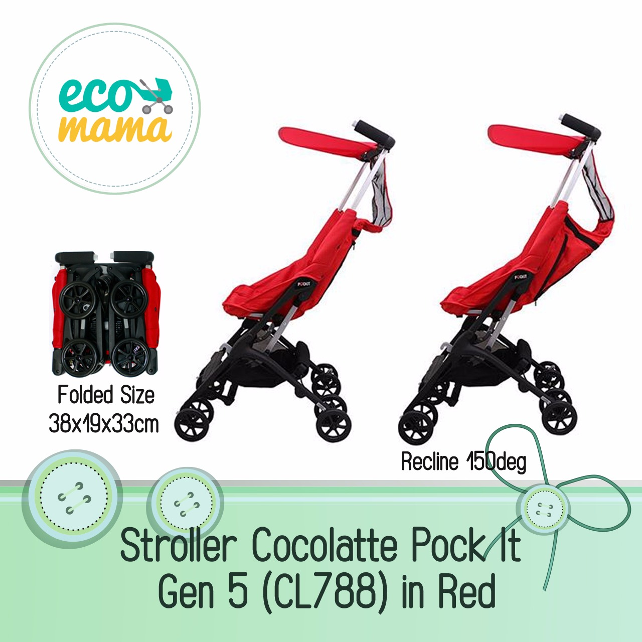 Cocolatte Pockit CL788 Gen 4 Red