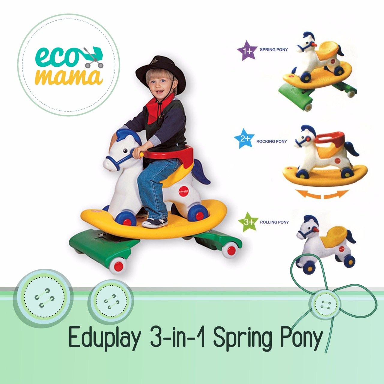 Eduplay Spring Pony 3in1